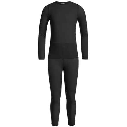32 Degrees Heat Base Layer Set - Long Sleeve (For Little and Big Kids) in Black - Closeouts