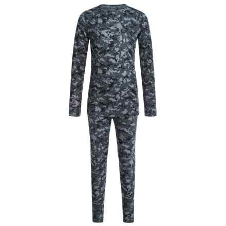 32 Degrees Heat Base Layer Set - Long Sleeve (For Little and Big Kids) in Blue Digi Camo - Closeouts