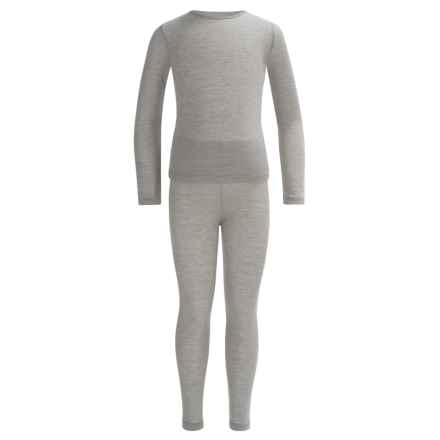 32 Degrees Heat Base Layer Set - Long Sleeve (For Little and Big Kids) in Heather Gray - Closeouts