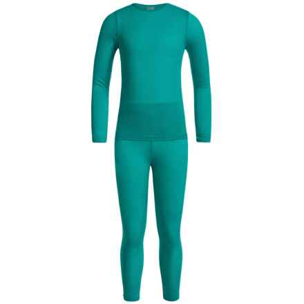 32 Degrees Heat Base Layer Set - Long Sleeve (For Little and Big Kids) in Jade Green - Closeouts
