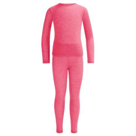32 Degrees Heat Base Layer Set - Long Sleeve (For Little and Big Kids) in Neon Pink - Closeouts