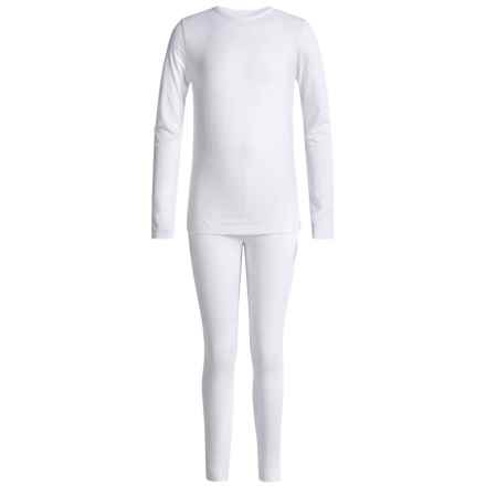32 Degrees Heat Base Layer Set - Long Sleeve (For Little and Big Kids) in White - Closeouts