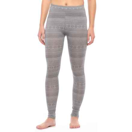 32 Degrees Heat Thermal Base Layer Pants (For Women) in Heather Grey Fairisle - Closeouts