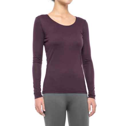 32 Degrees Heat Thermal Base Layer Top - Long Sleeve (For Women) in Heather Burgundy - Closeouts