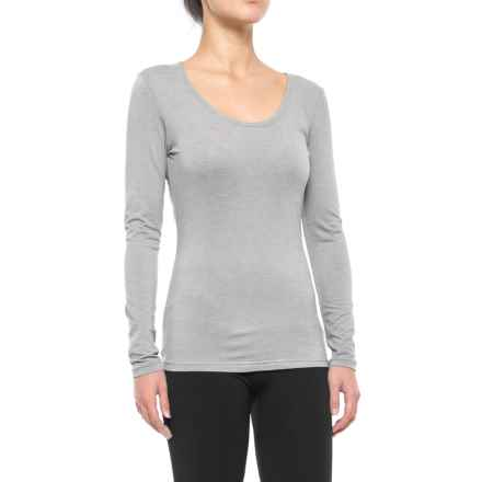 32 Degrees Heat Thermal Base Layer Top - Long Sleeve (For Women) in Heather Grey - Closeouts