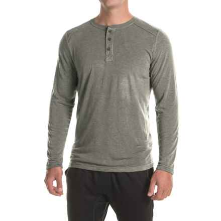 32 Degrees HeatKeep® Henley Shirt - Long Sleeve (For Men) in Heather Charcoal - Closeouts