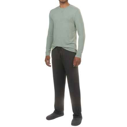 32 Degrees HeatKeep® Lounge Shirt and Pants Set - Long Sleeve (For Men) in Heather Hunter/Black - Closeouts