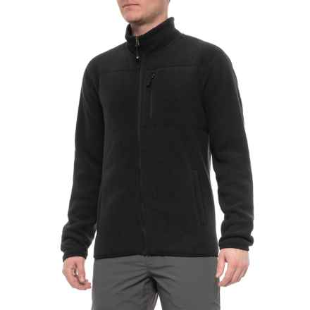 32 Degrees Heatkeep Sherpa Fleece Jacket (For Men) in Black - Closeouts