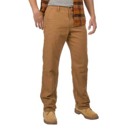 32 Degrees Oxford Cotton Pants - Flannel Lined (For Men) in Dark Khaki - Closeouts