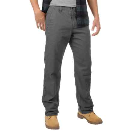 32 Degrees Oxford Cotton Pants - Flannel Lined (For Men) in Smoke - Closeouts