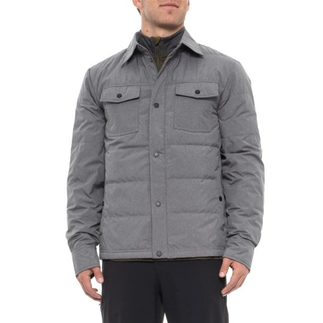 261dc8e0555 32 Degrees Packable Down Shirt Jacket - Long Sleeve (For Men) in Cloud Cover