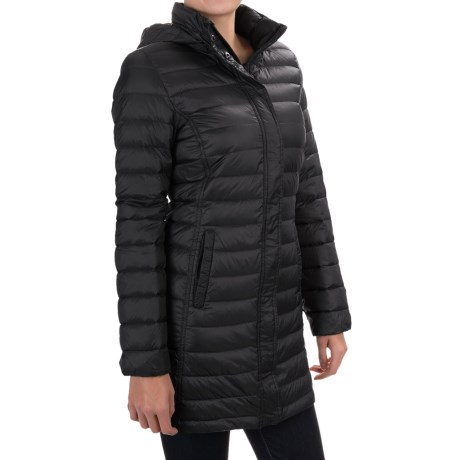 32 Degrees Packable Long Down Jacket 650 Fill Power, Hooded (For Women)
