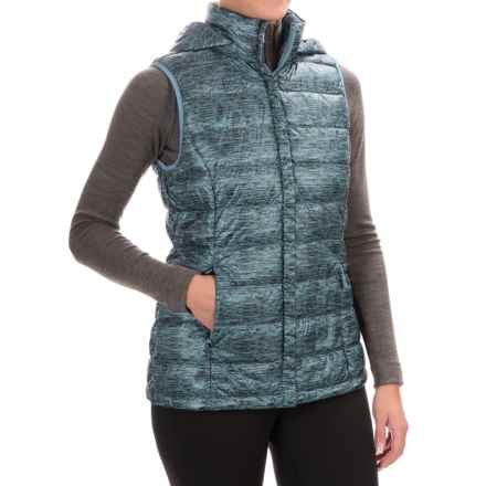32 Degrees Silk Nano Down Vest - 650 Fill Power, Detachable Hood (For Women) in Clear Water Spacdye - Closeouts