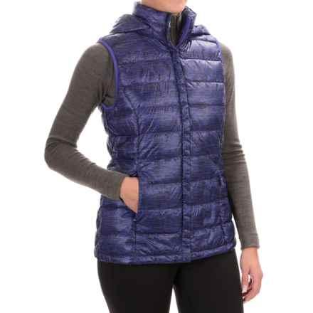 32 Degrees Silk Nano Down Vest - 650 Fill Power, Detachable Hood (For Women) in Tradewind Purple - Closeouts