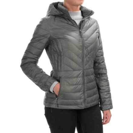 32 Degrees Silk Nano Lightweight Down Jacket - 650 fill power (For Women) in Cloud Cover Shiny Melange - Closeouts