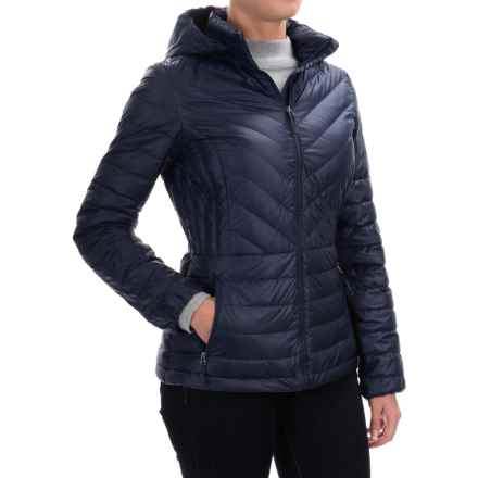 32 Degrees Silk Nano Lightweight Down Jacket - 650 fill power (For Women) in Eclipse Shiny Melange - Closeouts
