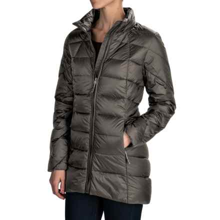 32 Degrees Silk Nano Lightweight Down Puffer Coat - 650 Fill Power (For Women) in Charcoal Grey - Closeouts