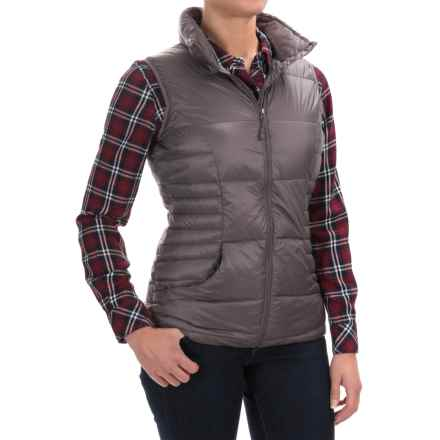 32 Degrees Silk Nano Lightweight Down Vest - 650 Fill Power (For Women) in Stone Grey - Closeouts