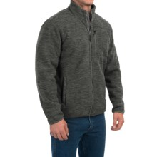 32 Degrees Space-Dyed Fleece Jacket - Sherpa Lined, Zip Front (For Men) in Deep Forest Space Dye - Closeouts