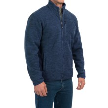 32 Degrees Space-Dyed Fleece Jacket - Sherpa Lined, Zip Front (For Men) in Navy Space Dye - Closeouts