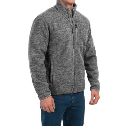 32 Degrees Space-Dyed Fleece Jacket - Sherpa Lined, Zip Front (For Men) in Slate Grey Space Dye - Closeouts