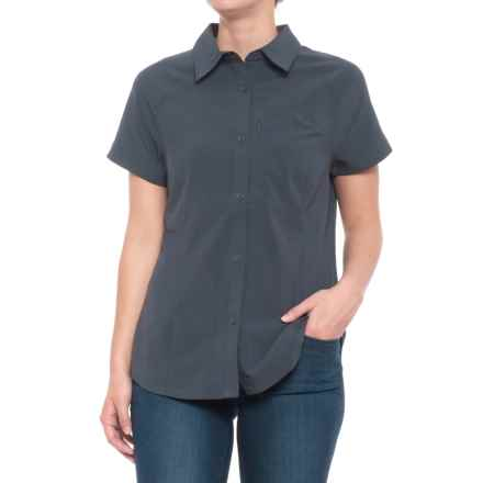 32 Degrees Stretch Micro Ripstop Knit Shirt - Short Sleeve (For Women) in India Ink - Closeouts