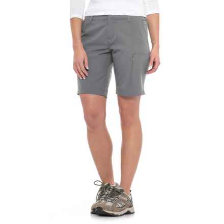 32 Degrees Stretch Shorts (For Women) in Grey - Closeouts