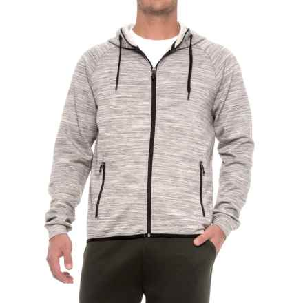 32 Degrees Tech Fleece Hoodie (For Men) in Grey Space Dye - Closeouts