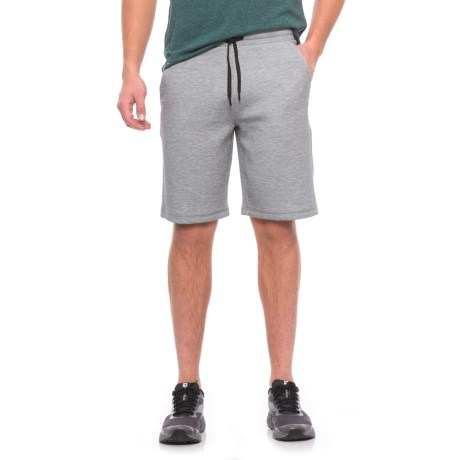 32 Degrees Tech Fleece Shorts (For Men) in Heather Grey