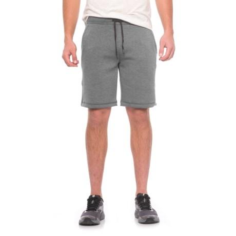 32 Degrees Tech Fleece Shorts (For Men) in Heather Storm