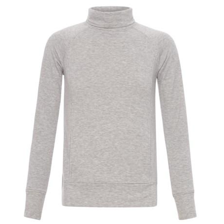 32 Degrees Turtleneck Sweatshirt (For Girls) in Heather Grey