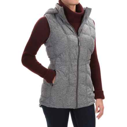 32 Degrees Ultra Stretch Down Vest - 650 Fill Power (For Women) in Light Grey Spacedye - Closeouts