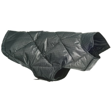 32 Degrees Ultralight Down Dog Vest in Black Herringbone
