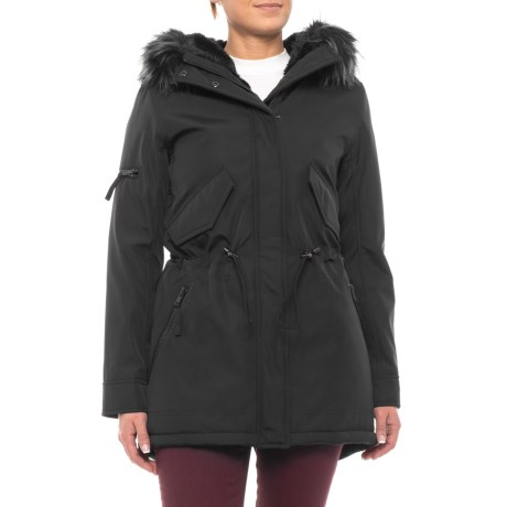Image of 34? Bonded Nylon Parka with Faux-Raccoon Hood - Insulated (For Women)