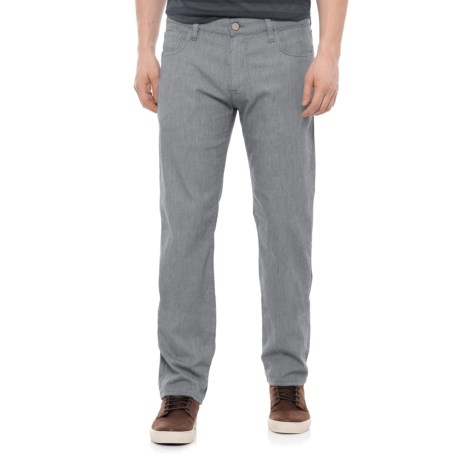 34 Heritage Courage Grey Chambray Jeans - Mid Rise, Straight Leg (For Men) in Grey Chambray