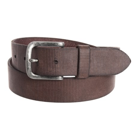 Image of 35mm Embossed Panel Belt - Leather (For Men)