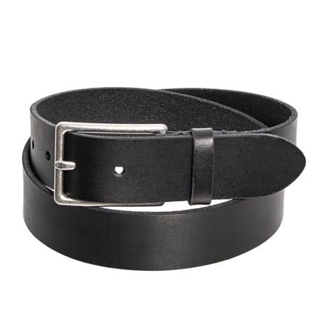35mm Flat Panel Belt - Leather (For Men)