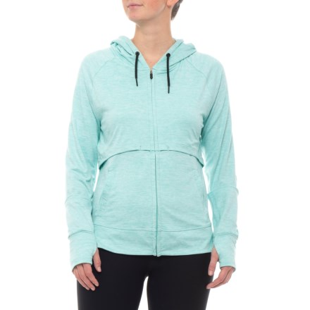 d5de81c82111 361 Degrees Fit Lux Hoodie (For Women) in Heather Aruba - Closeouts
