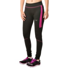 361 Degrees Long Running Tights (For Women) in Moonless Night/Raspberry Rose - Closeouts