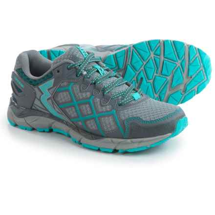 361 Degrees Ortega Trail Running Shoes (For Women) in Gray/Peacock Blue - Closeouts