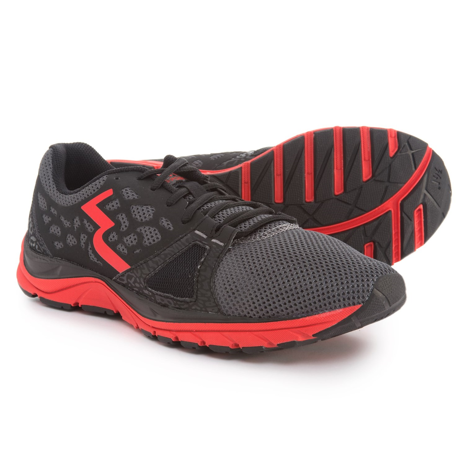 361 Degrees Poison Cross-Training Shoes (For Men) in Gray/Red