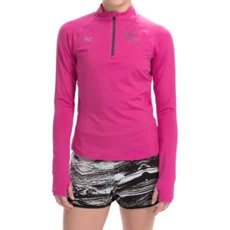 361 Degrees Pullover Shirt Zip Neck, Long Sleeve (For Women)
