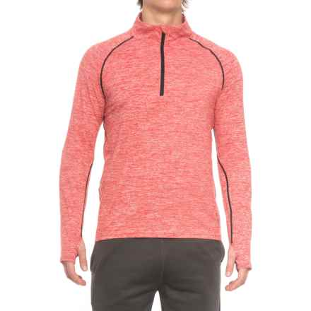 361 Degrees Quik Thermal Lux Shirt - Zip Neck, Long Sleeve (For Men) in Chi/Black - Closeouts