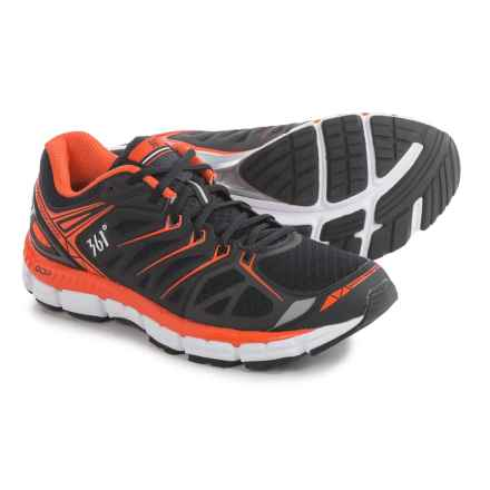 361 Degrees Sensation Running Shoes (For Men) in Black/Red Orange/White - Closeouts