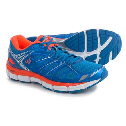 361 Degrees Sensation Running Shoes (For Men) in Nautical Blue/Orange - Closeouts