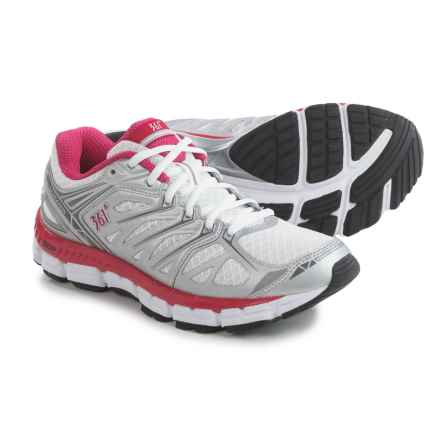 361 Degrees Sensation Running Shoes (For Women) in Silver/White/Bright - Closeouts