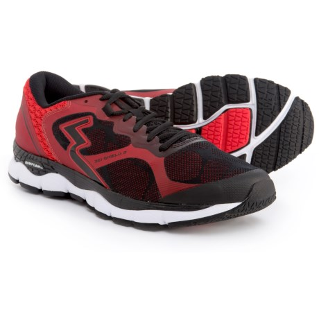 361 Degrees Shield 2 Running Shoes (For Men) in Black/Risk Red