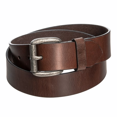 Image of 38mm Oiled Leather Pull-Up Panel Belt (For Men)