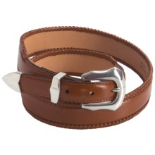 3D Western Leather Belt (For Men) in Cognac - Closeouts