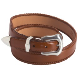 3D Western Leather Belt (For Men) in Cognac